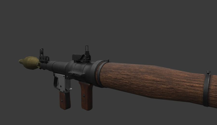RPG-7 PBR Model gotowy do gry 3D royalty-free 3d model - Preview no. 7