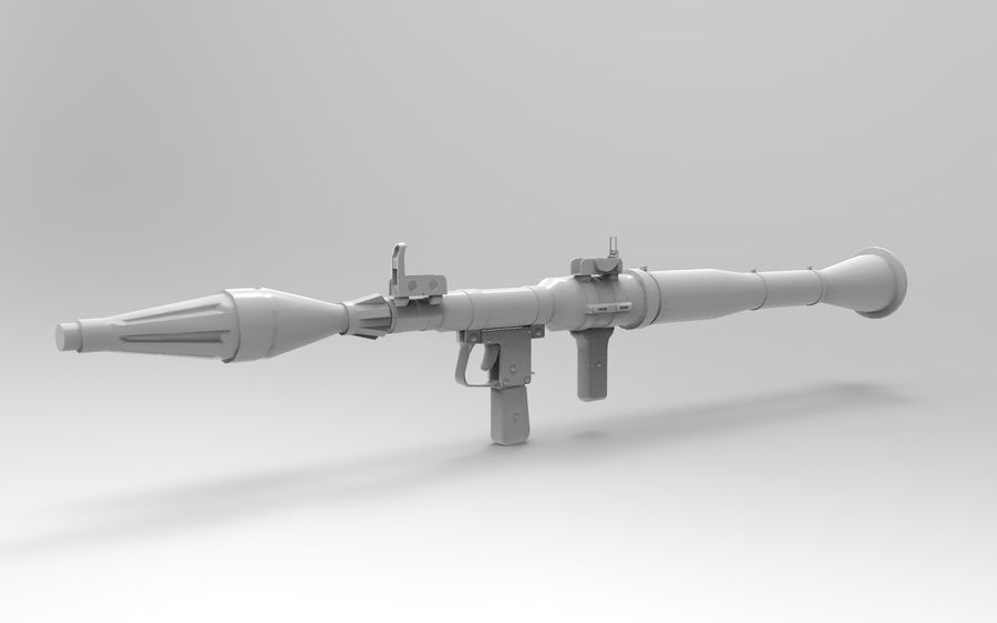RPG-7 PBR Model gotowy do gry 3D royalty-free 3d model - Preview no. 11