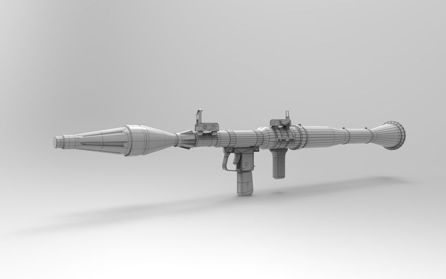 RPG-7 PBR Model gotowy do gry 3D royalty-free 3d model - Preview no. 13