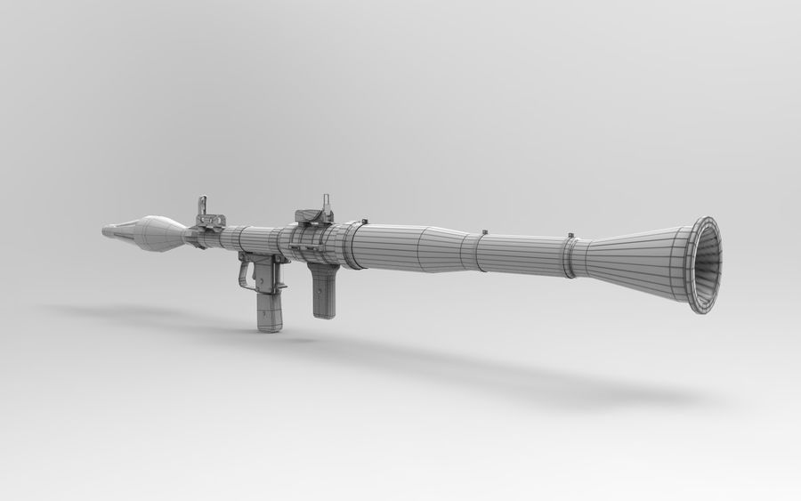 RPG-7 PBR Model gotowy do gry 3D royalty-free 3d model - Preview no. 12