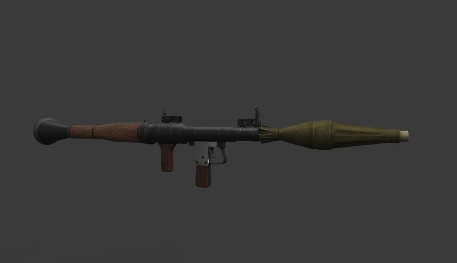 RPG-7 PBR Model gotowy do gry 3D royalty-free 3d model - Preview no. 4
