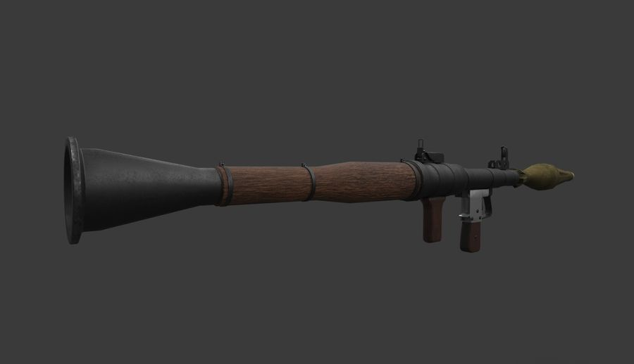 RPG-7 PBR Model gotowy do gry 3D royalty-free 3d model - Preview no. 5