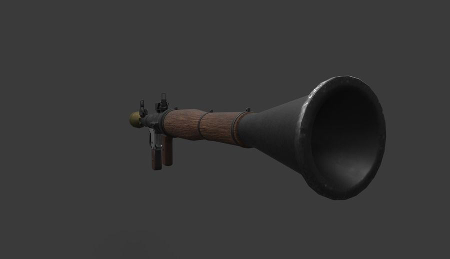 RPG-7 PBR Game Ready 3D模型 royalty-free 3d model - Preview no. 6