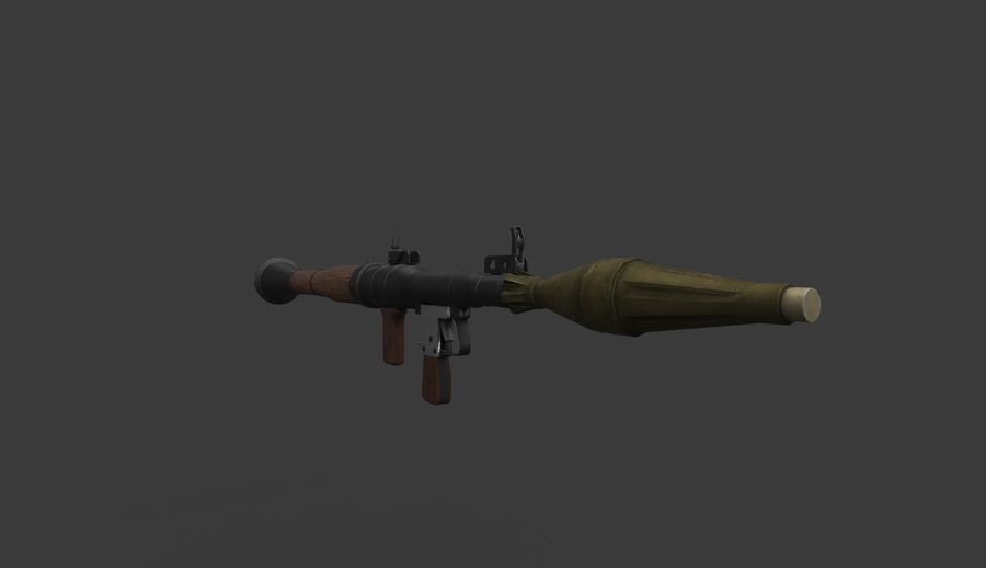 RPG-7 PBR Model gotowy do gry 3D royalty-free 3d model - Preview no. 3