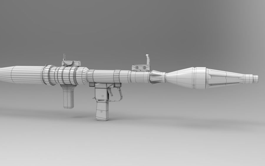 RPG-7 PBR Model gotowy do gry 3D royalty-free 3d model - Preview no. 14