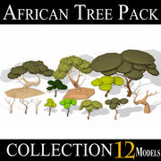 LAAG POLY African Tree Pack 3d model