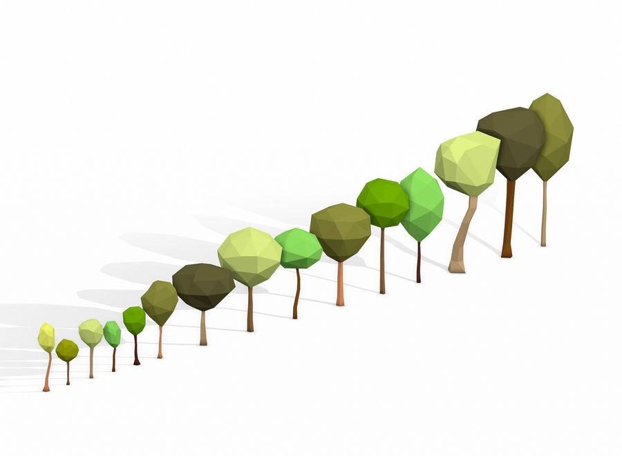 简单的树包-低聚 royalty-free 3d model - Preview no. 3