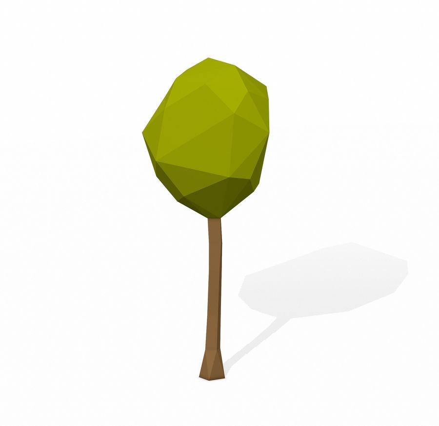 简单的树包-低聚 royalty-free 3d model - Preview no. 6