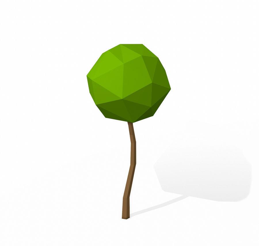 简单的树包-低聚 royalty-free 3d model - Preview no. 15