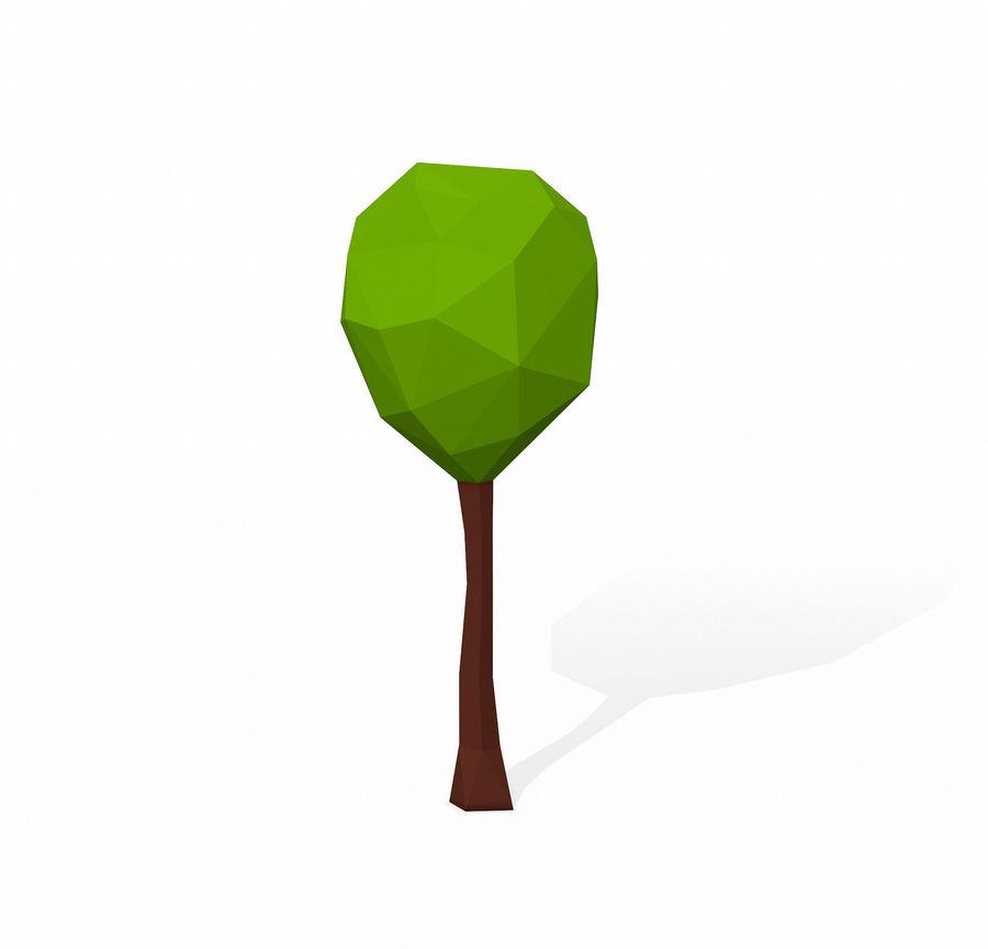 简单的树包-低聚 royalty-free 3d model - Preview no. 9