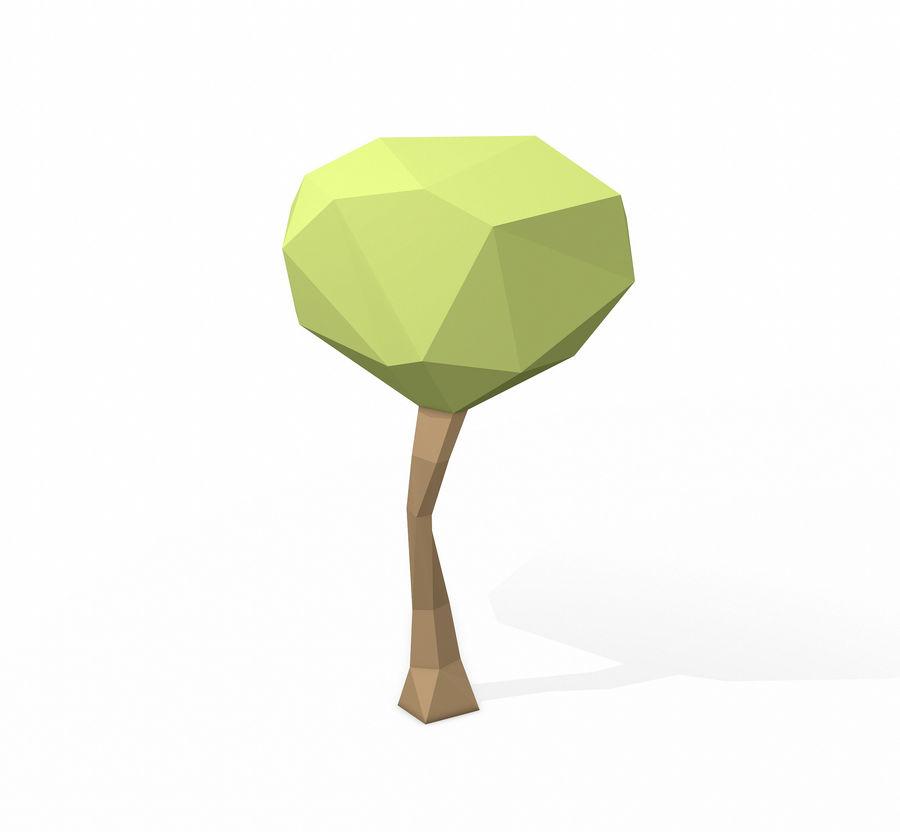 简单的树包-低聚 royalty-free 3d model - Preview no. 17