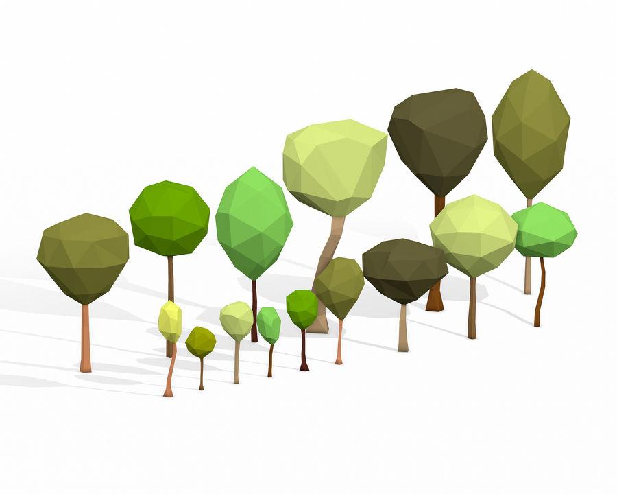 简单的树包-低聚 royalty-free 3d model - Preview no. 5