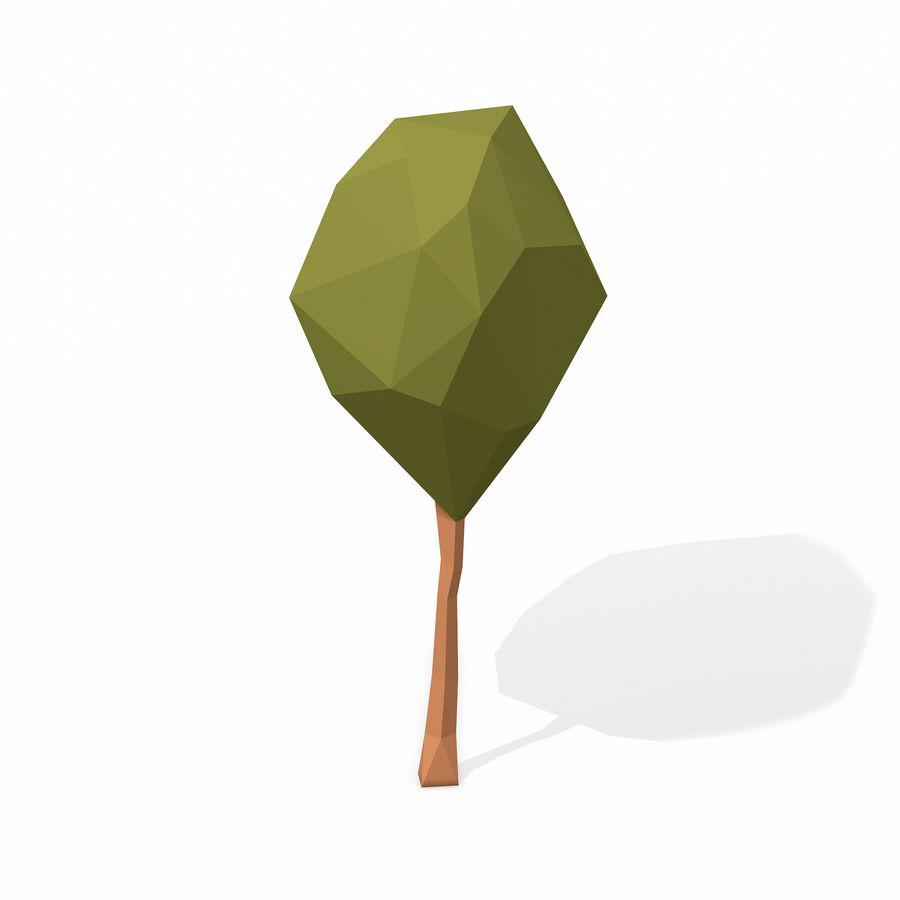 简单的树包-低聚 royalty-free 3d model - Preview no. 10