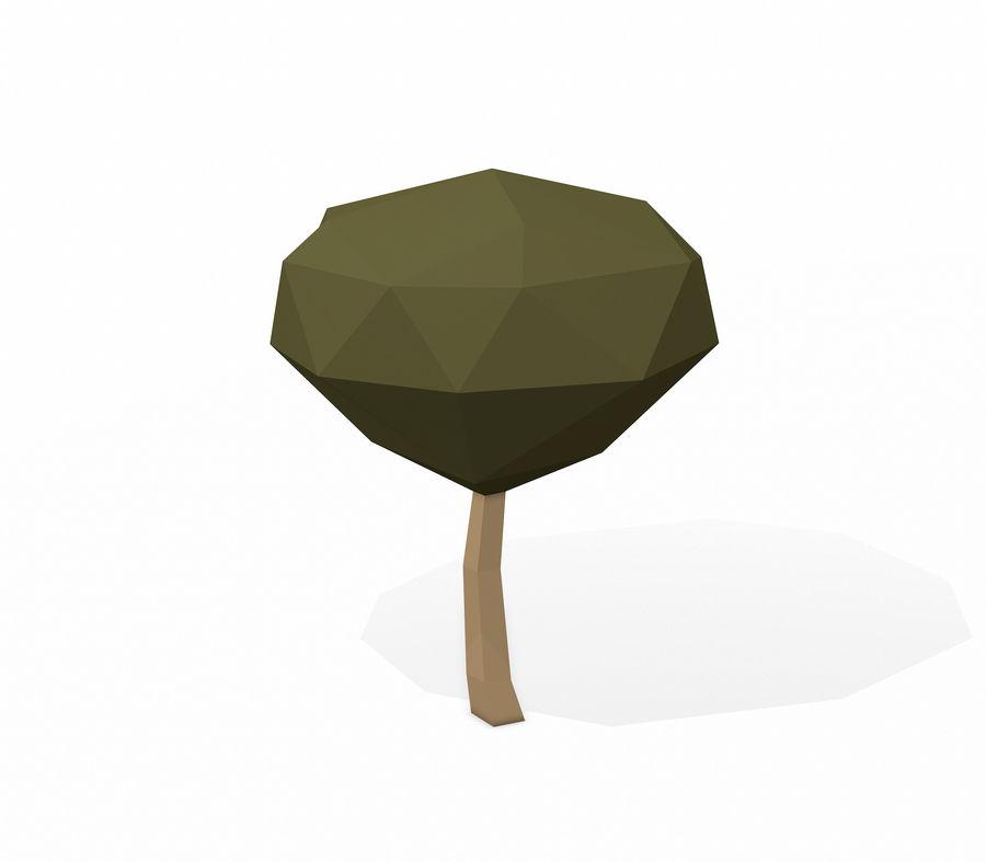 简单的树包-低聚 royalty-free 3d model - Preview no. 11