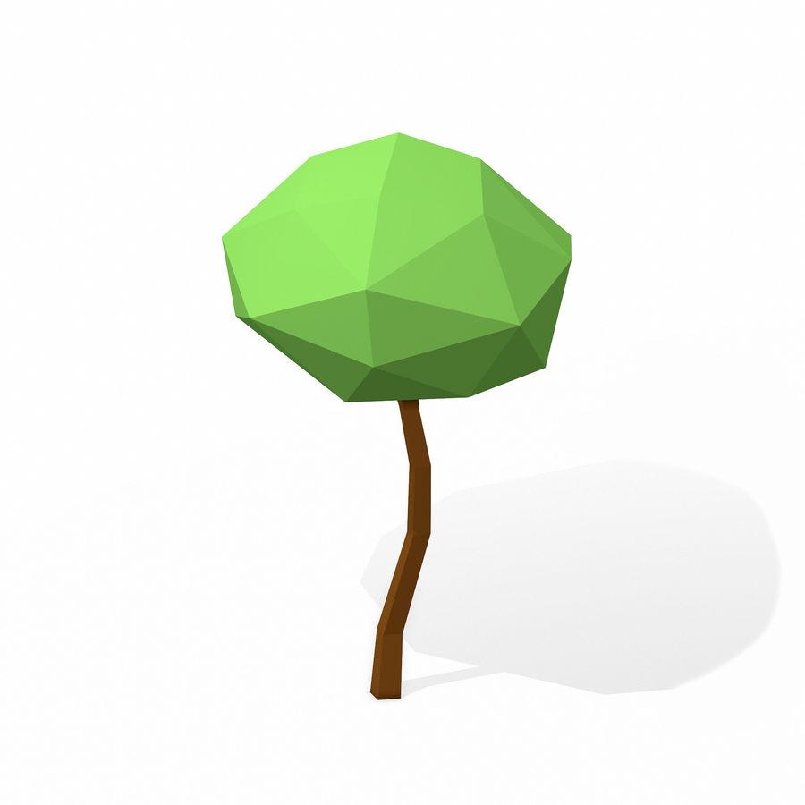简单的树包-低聚 royalty-free 3d model - Preview no. 13