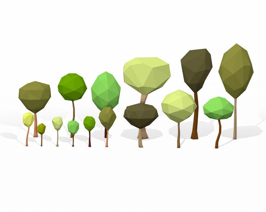 简单的树包-低聚 royalty-free 3d model - Preview no. 2