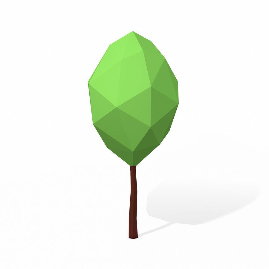 简单的树包-低聚 royalty-free 3d model - Preview no. 16