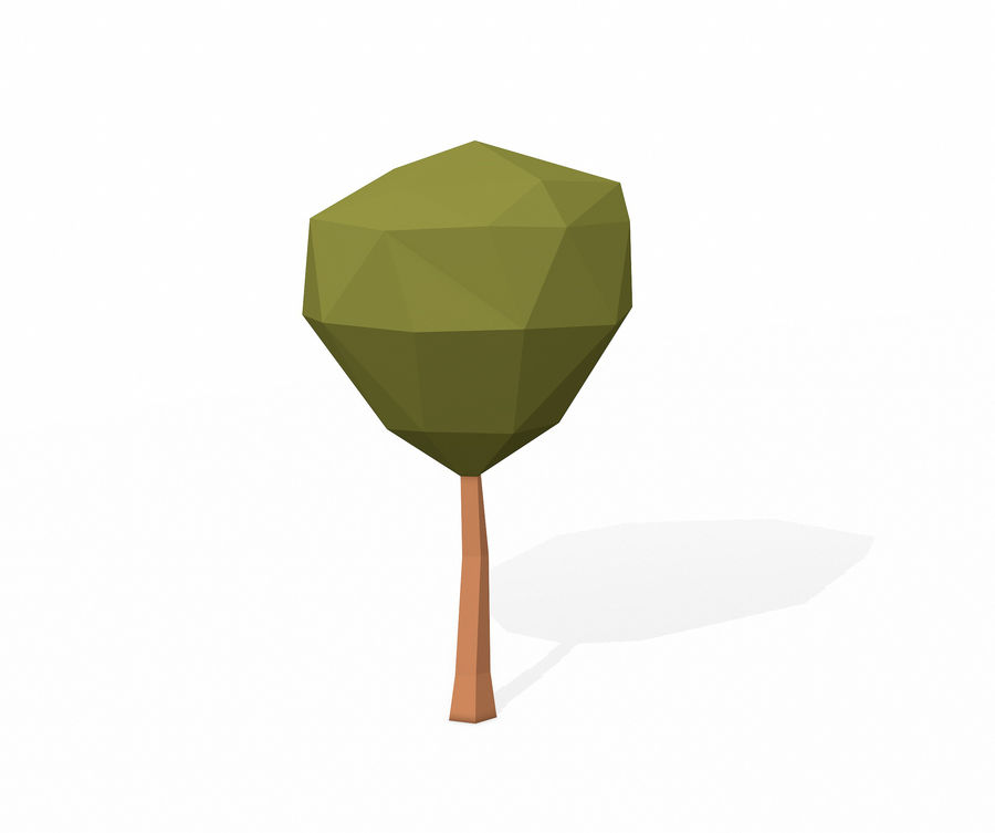 简单的树包-低聚 royalty-free 3d model - Preview no. 14