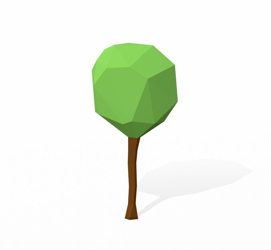 简单的树包-低聚 royalty-free 3d model - Preview no. 8