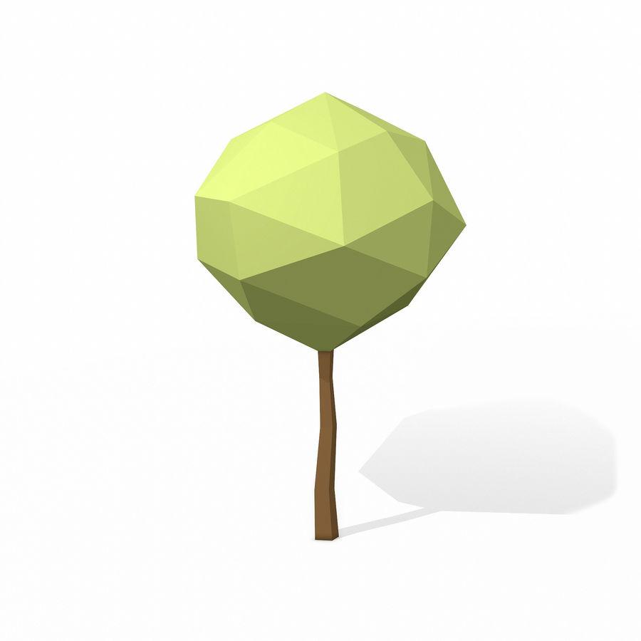 简单的树包-低聚 royalty-free 3d model - Preview no. 12