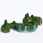 Plantadores modulares 3d model