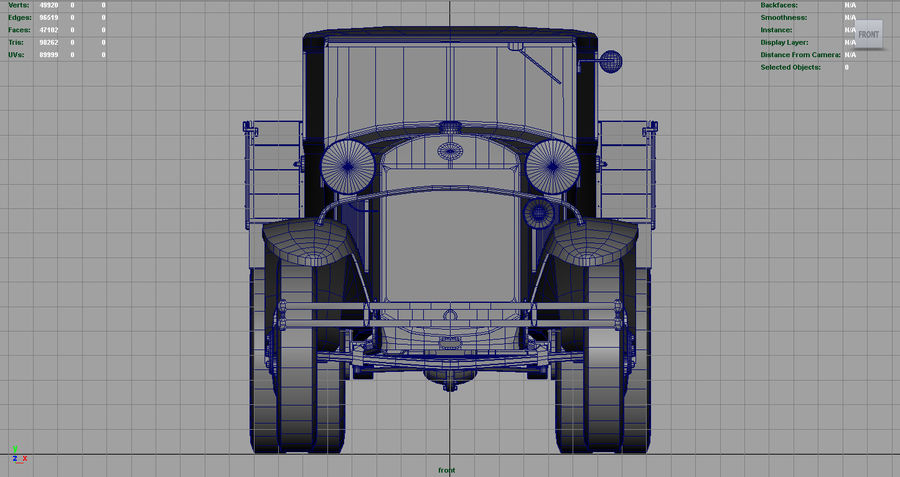 GAZ AAA TRUCK DIRT royalty-free 3d model - Preview no. 8