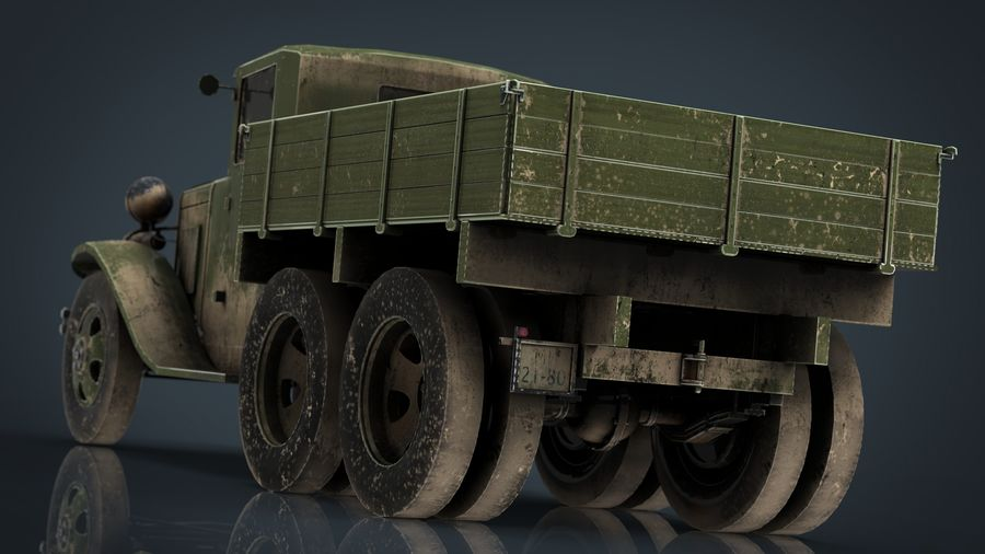 GAZ AAA TRUCK DIRT royalty-free 3d model - Preview no. 13