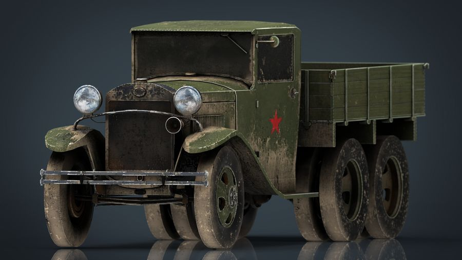GAZ AAA TRUCK DIRT royalty-free 3d model - Preview no. 1