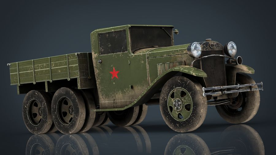 GAZ AAA TRUCK DIRT royalty-free 3d model - Preview no. 12