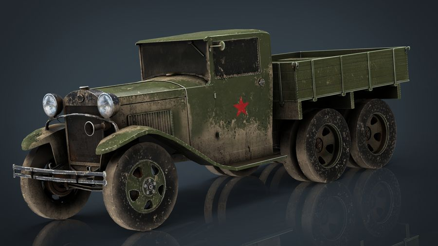 GAZ AAA TRUCK DIRT royalty-free 3d model - Preview no. 15