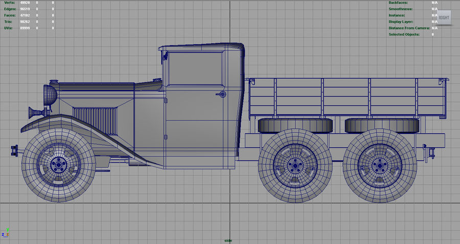 GAZ AAA TRUCK DIRT royalty-free 3d model - Preview no. 9