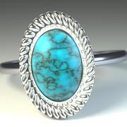 蓝宝石戒指 3d model