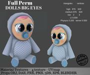 Doll Big Eyes 3d model