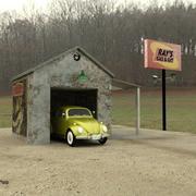 Gas N Git Station (para DAZ Studio) modelo 3d