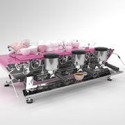 Machine à café Kees van der Westen Spirit Pink 3 groupe 3d model