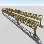 发射龙门 3d model