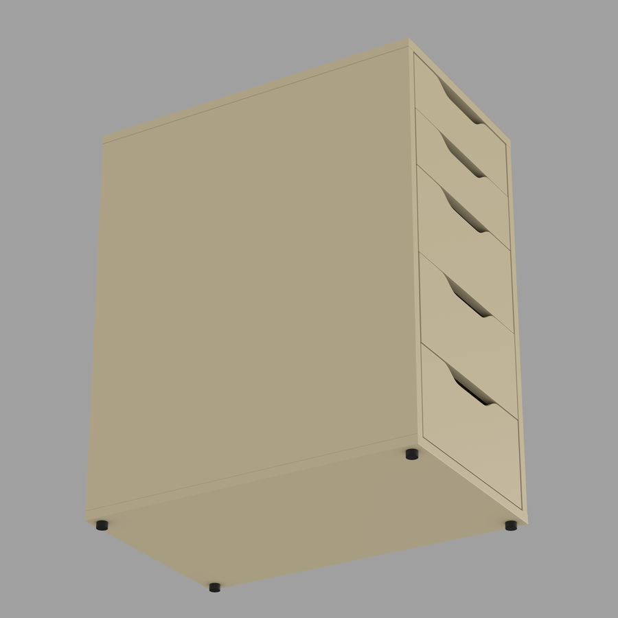 IKEA ALEX låda royalty-free 3d model - Preview no. 26