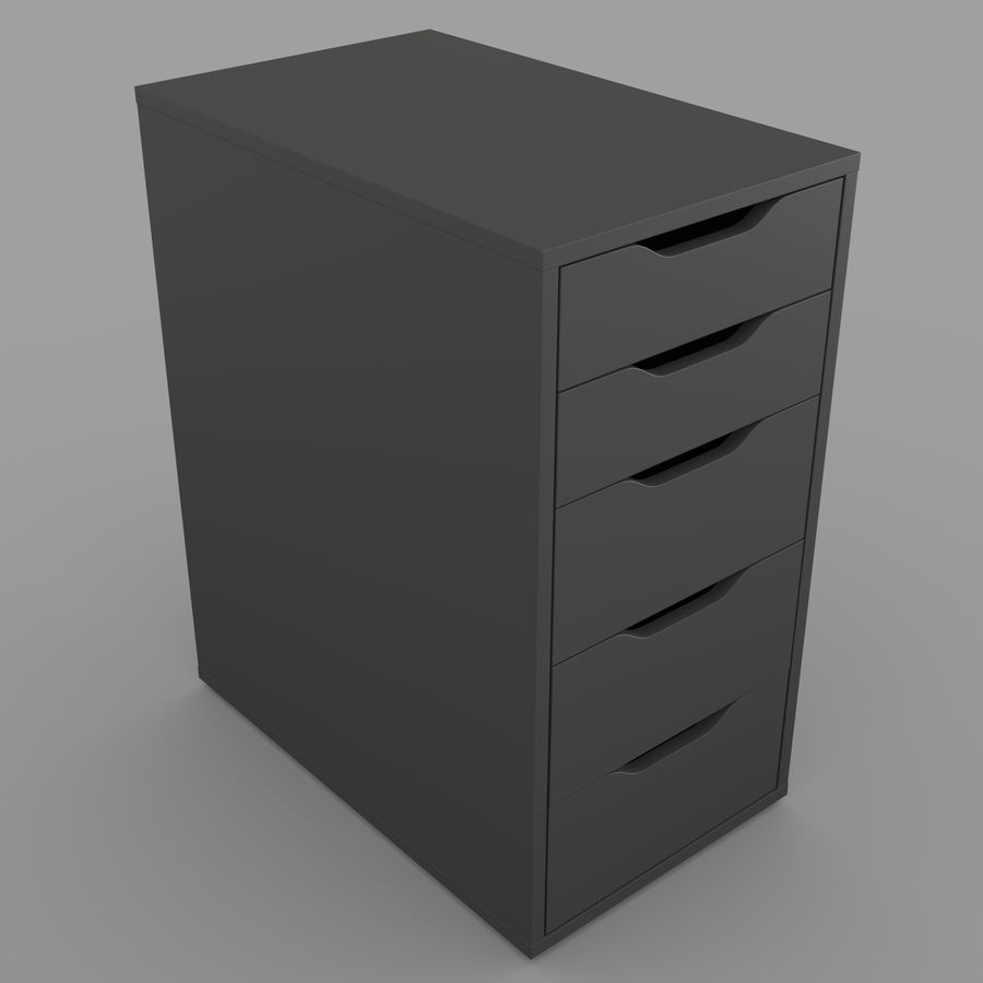 IKEA ALEX låda royalty-free 3d model - Preview no. 10