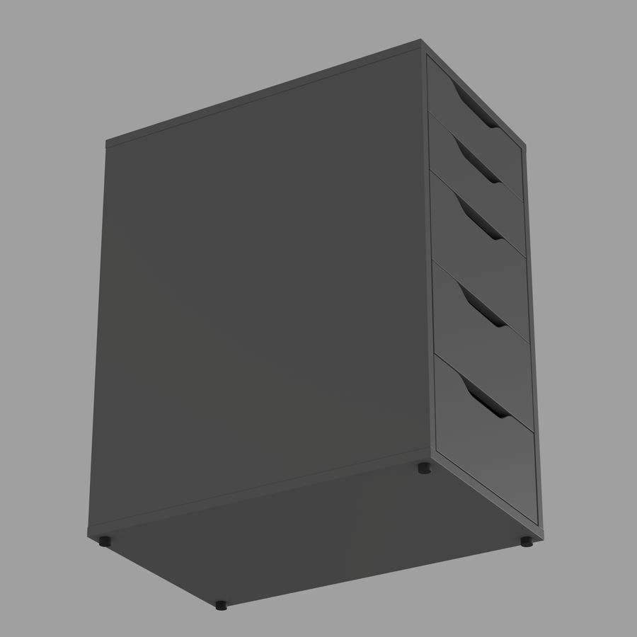 IKEA ALEX låda royalty-free 3d model - Preview no. 12