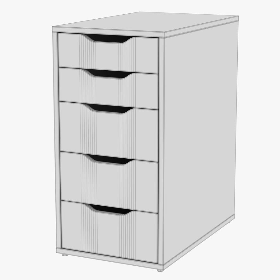 IKEA ALEX låda royalty-free 3d model - Preview no. 30