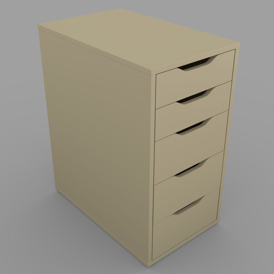 IKEA ALEX låda royalty-free 3d model - Preview no. 24