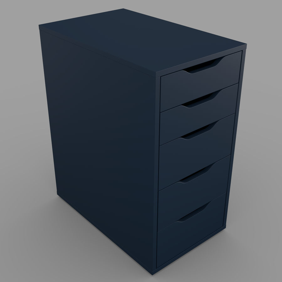 IKEA ALEX låda royalty-free 3d model - Preview no. 17