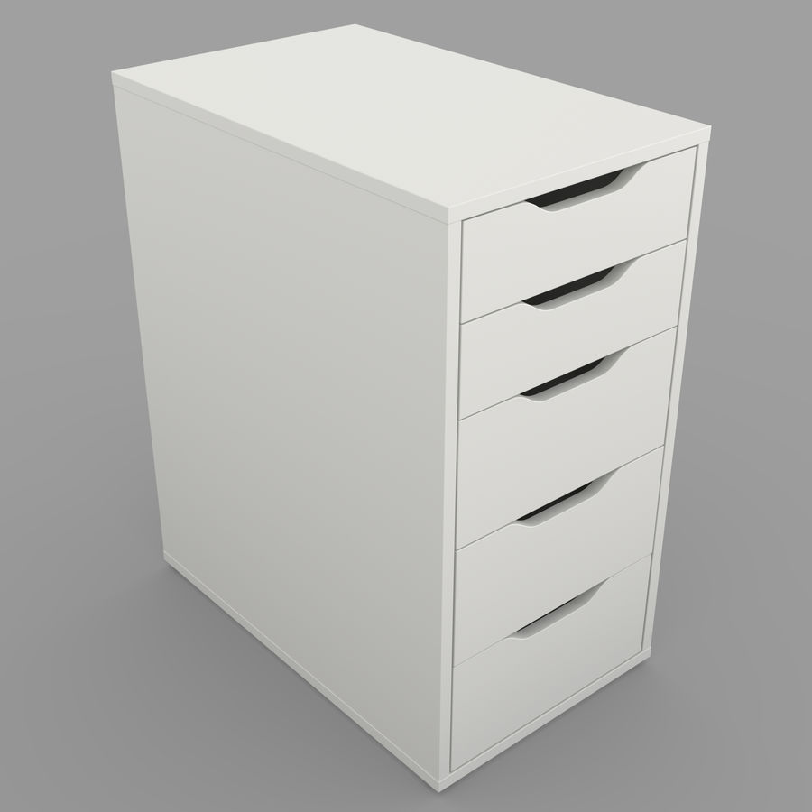IKEA ALEX låda royalty-free 3d model - Preview no. 3