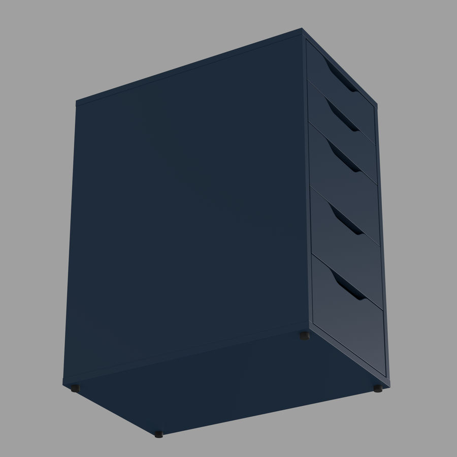 IKEA ALEX låda royalty-free 3d model - Preview no. 19