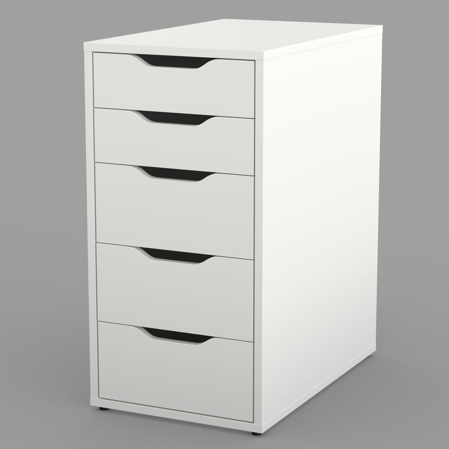IKEA ALEX låda royalty-free 3d model - Preview no. 2