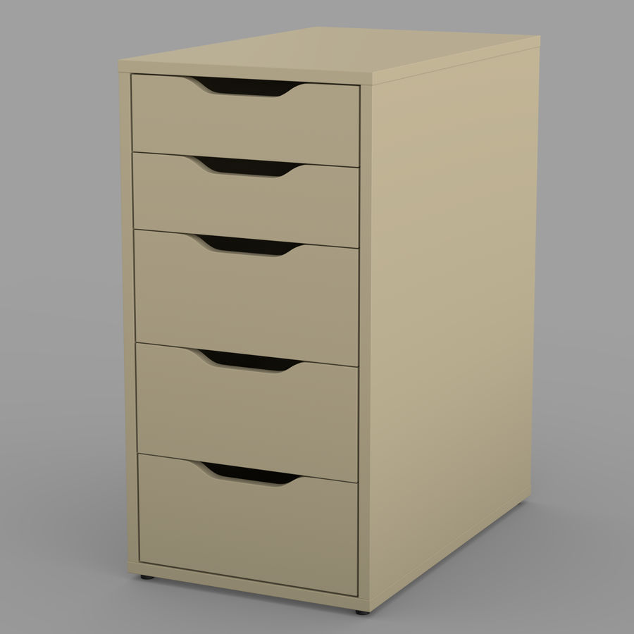 IKEA ALEX låda royalty-free 3d model - Preview no. 23