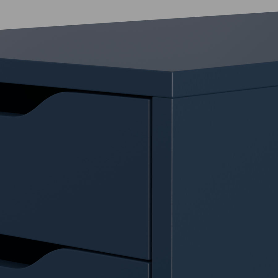 IKEA ALEX låda royalty-free 3d model - Preview no. 22