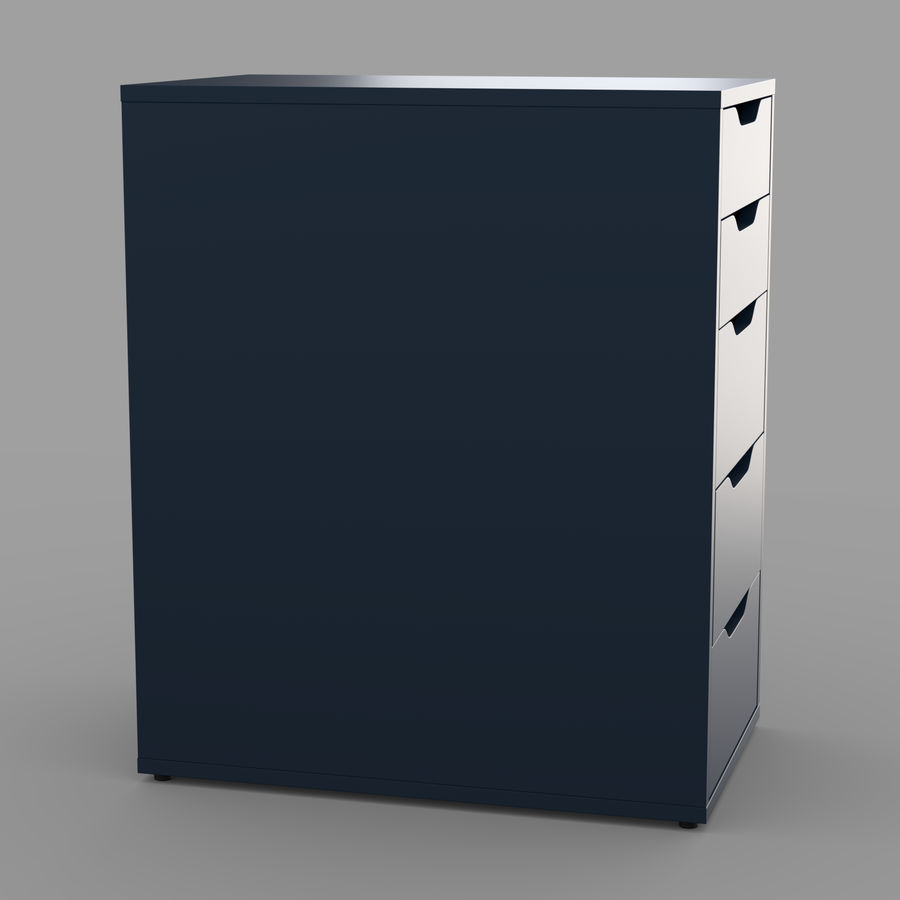 IKEA ALEX låda royalty-free 3d model - Preview no. 18