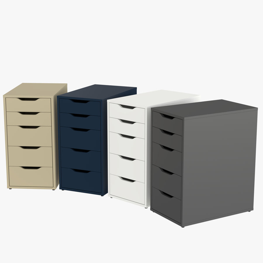 IKEA ALEX låda royalty-free 3d model - Preview no. 1