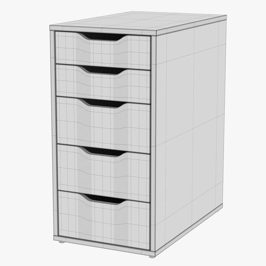 IKEA ALEX låda royalty-free 3d model - Preview no. 31